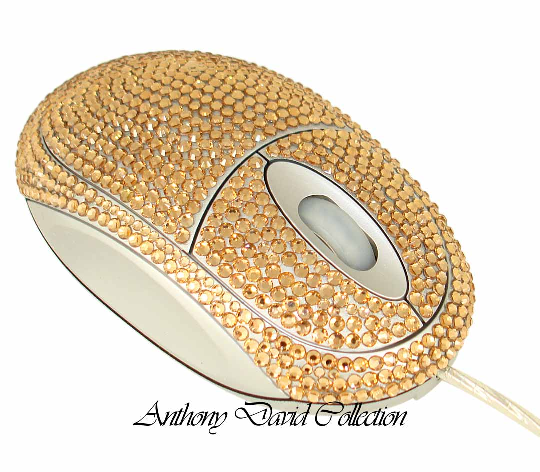 Swarovski Crystal Computer Mouse Crystal Covered Computer