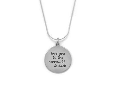 "Sterling Silver ""love you to the moon & back"" Necklace"