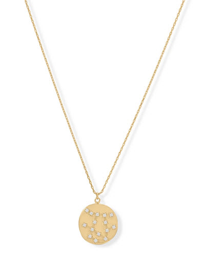14K Gold & Sterling Silver Gemini Zodiac Necklace