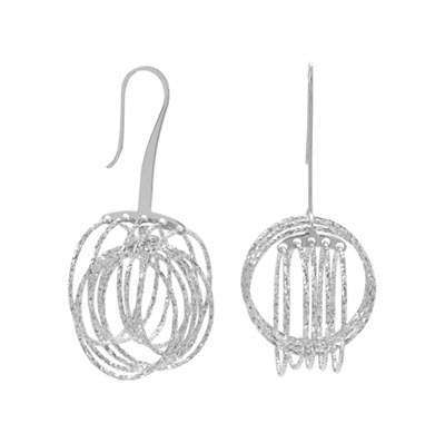 Sterling Silver 3D Orbital Earrings