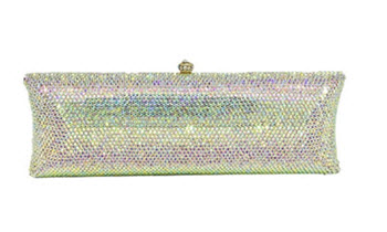 Anthony David Crystal Handbag - Aurora Borealis Elongated Pillow