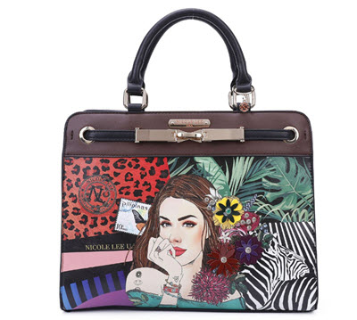 Nicole Lee Atrevida Paradise Satchel Purse