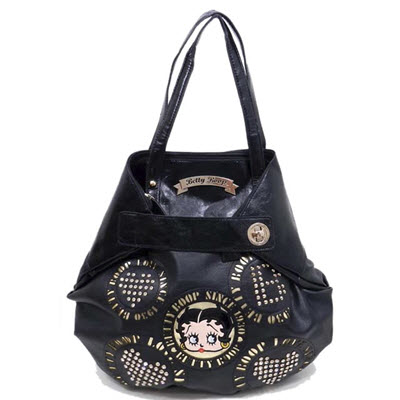 Betty Boop Cinched Style Purse - Black