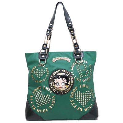 Betty Boop Leather Shoulder Purse - Emerald Green