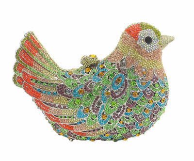 Anthony David Crystal Handbag - Multi-Colored Bird