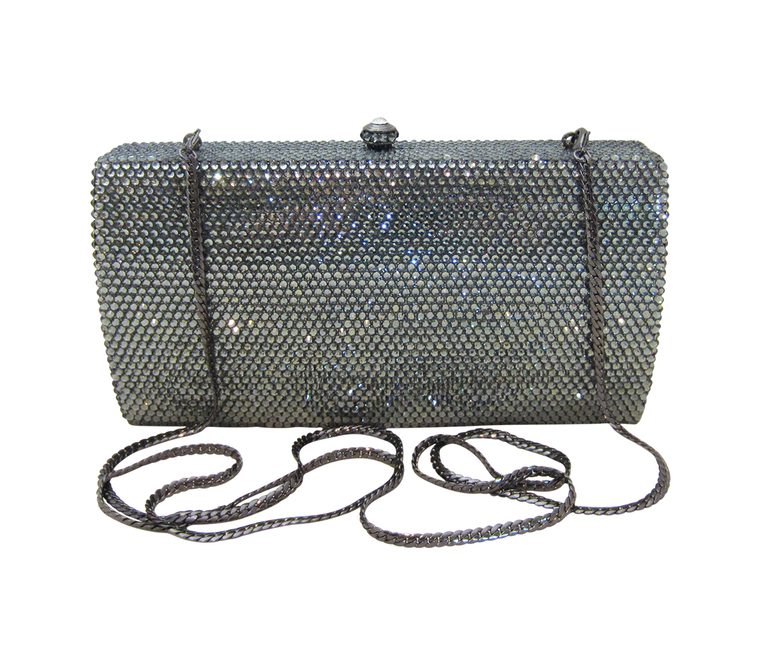 Anthony David Handbag with Swarovski Crystal - Classica Pewter