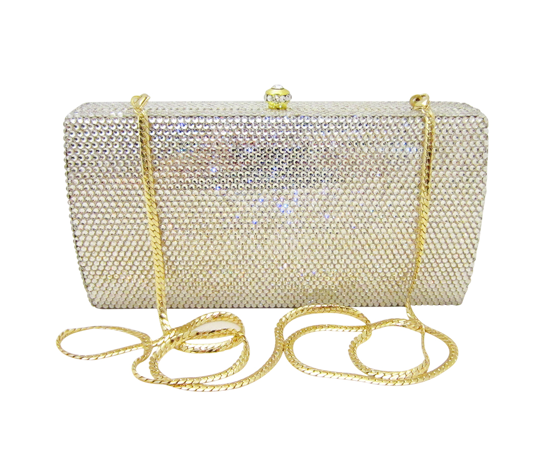 Anthony David Crystal Handbag - Classica Silver & Gold