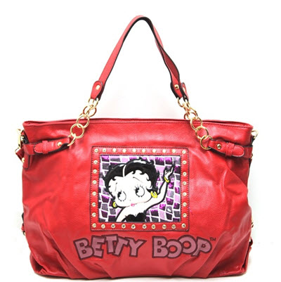 Betty Boop Tote Style Shoulder Purse - Red