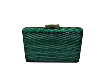Anthony David Satin Crystal Evening Bag - Green