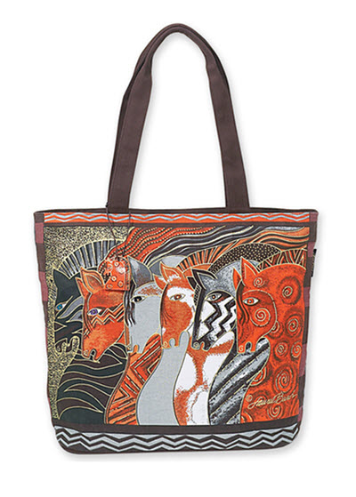 Artist Laurel Burch Beach Bag Tote - Moroccan Horses