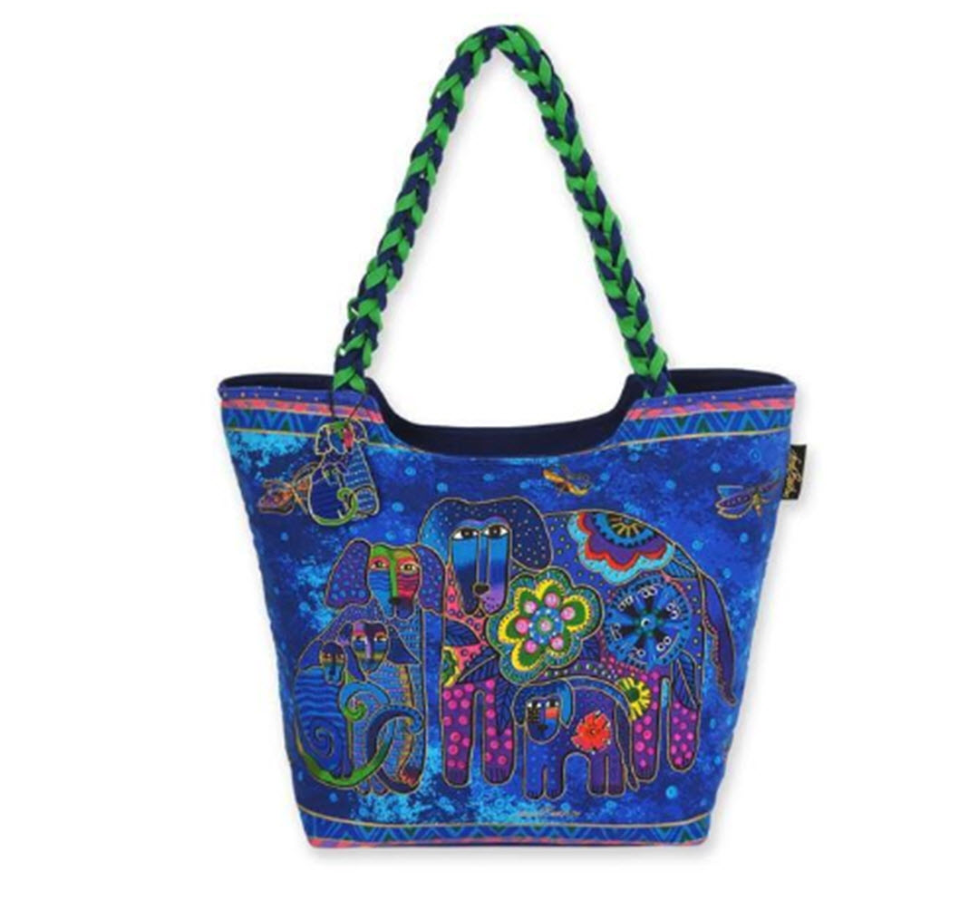Artist Laurel Burch Fashion Beach Bag - A Dog's Family