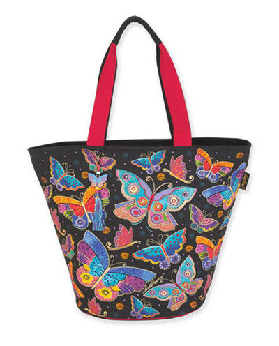 Artist Laurel Burch Beach Bag Tote - Butterfly