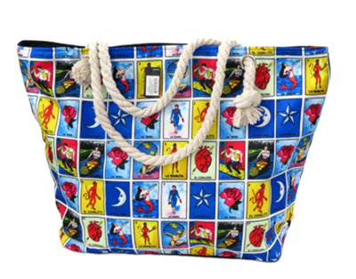 Loteria Mexican Bingo Tote Bag (with free cosmetic and coin purse)