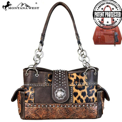 Montana West Brown Leopard Purse
