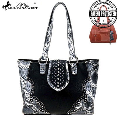 Montana West Black & White Snake Print Purse