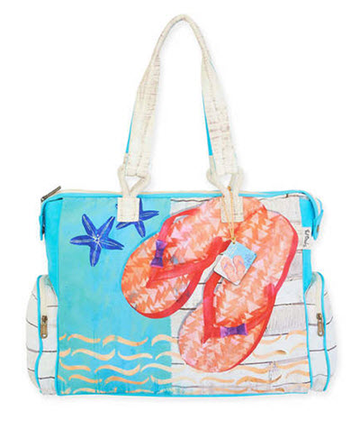 Artist Paul Brent Beach Bag Tote - Sunshine Sandals