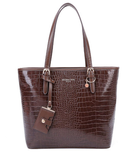 Nicole Lee Brown Vegan Leather Tote Style Purse