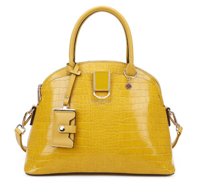 Nicole Lee Yellow Vegan Leather Dome Style Purse