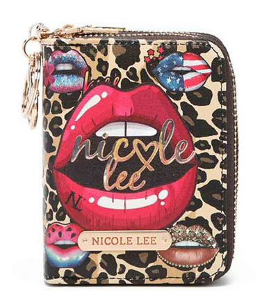"Nicole Lee ""Wild Lips"" Leopard Credit Card Wallet"