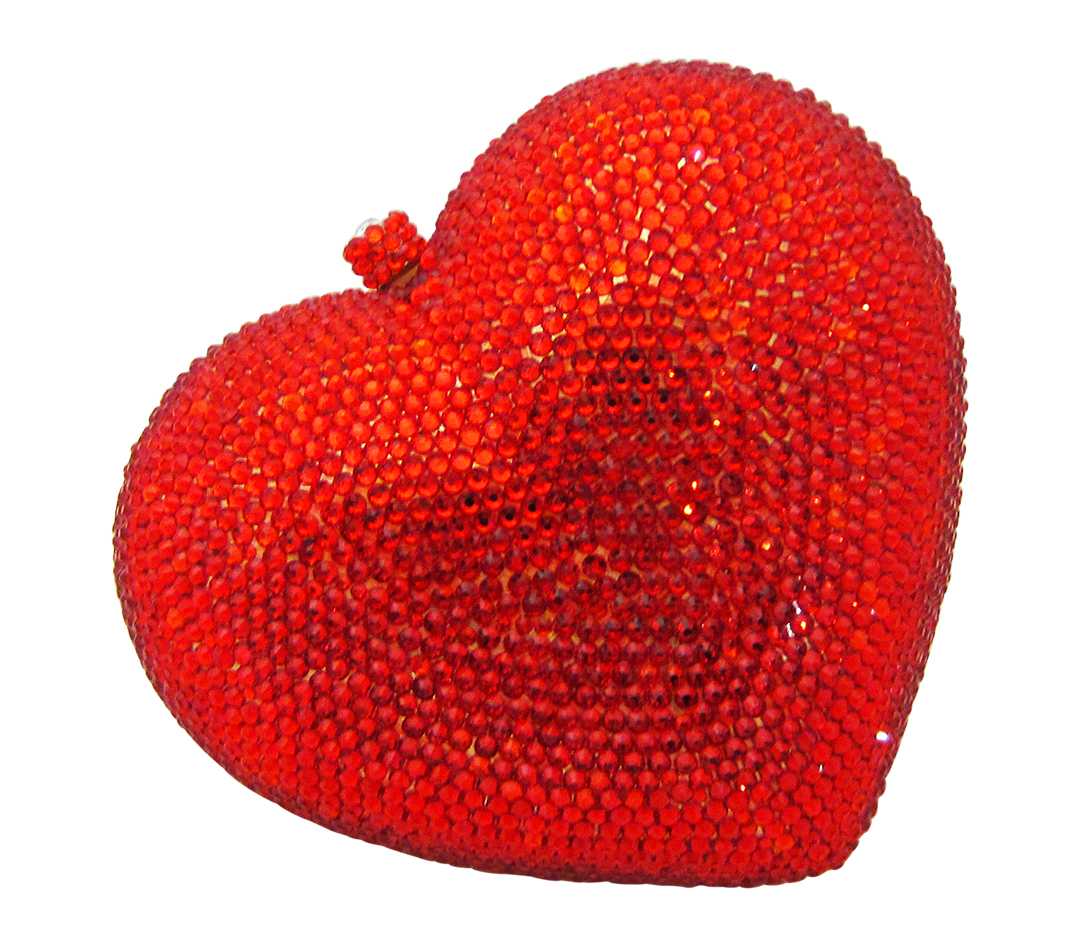 Anthony David Crystal Handbag - Red Heart