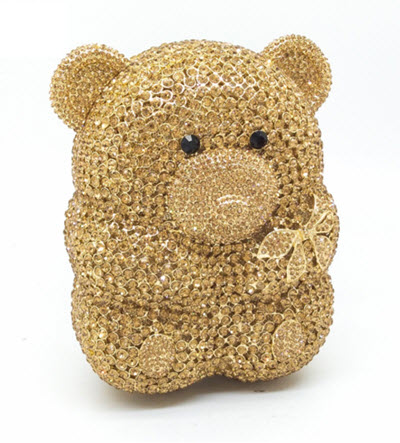 Anthony David Crystal Handbag - Teddy Bear