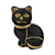 Anthony David Crystal Handbag - Black Cat