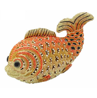 Anthony David Crystal Handbag - Gold Fish