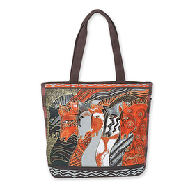 Artist Laurel Burch Fashion Beach Bag - Horses