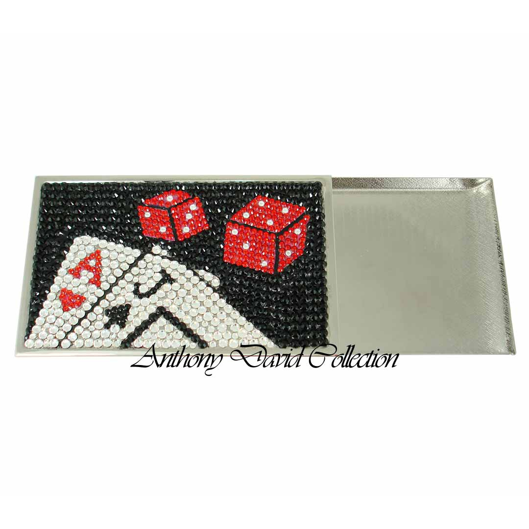 Anthony david business card case with swarovski crystal las vegas reheart