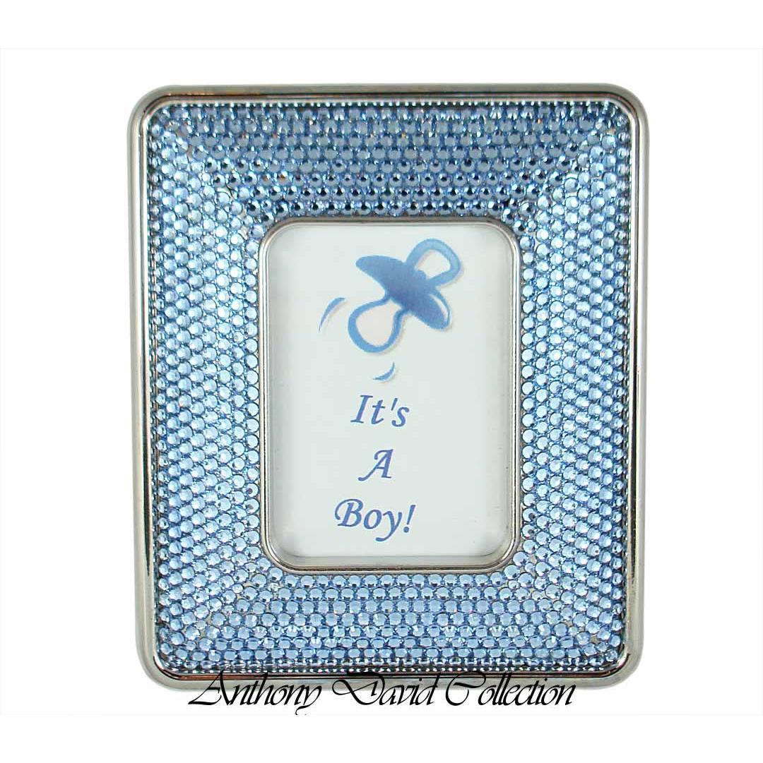 Anthony david swarovski crystal photo frame its a boy jeuxipadfo Images