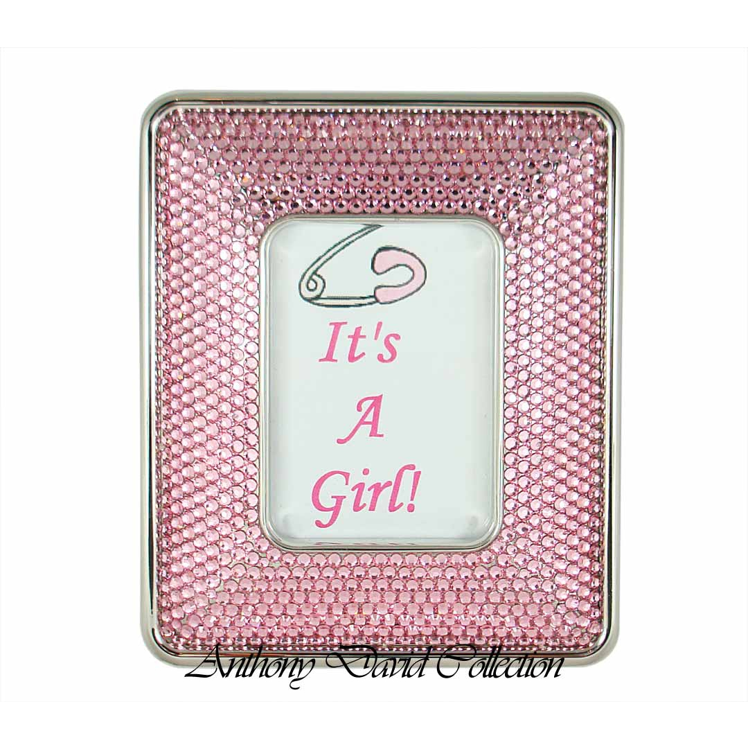 Anthony David Swarovski Crystal Photo Frame - It\'s A Girl!