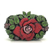 Anthony David Crystal Handbag - Red Rose