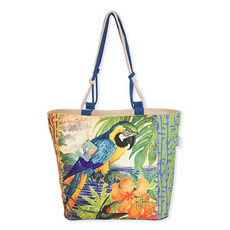 Artist Guy Harvey Beach Bag Tote - Parrot Palace