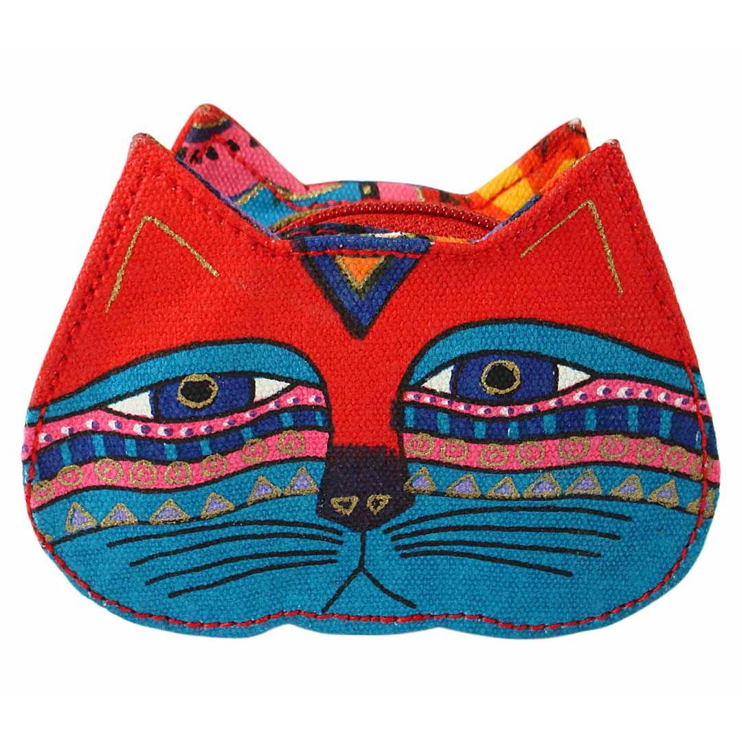 Artist Laurel Burch Coin Purse - Lavender Cat