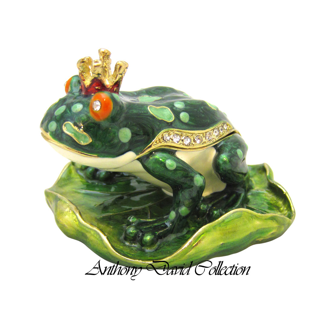 Frog Prince Keepsake Trinket Box