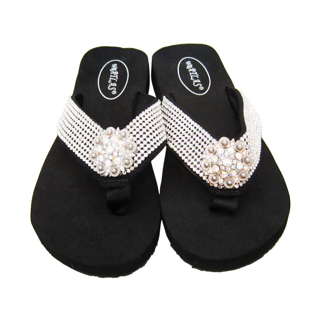 d73aae090c378 Crystal Flip Flop Sandals - Glitzy