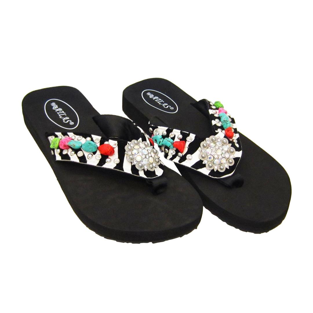Crystal Flip Flop Sandals Jazzy
