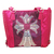 Rhinestone Cross Leather Tote Purse - Pink