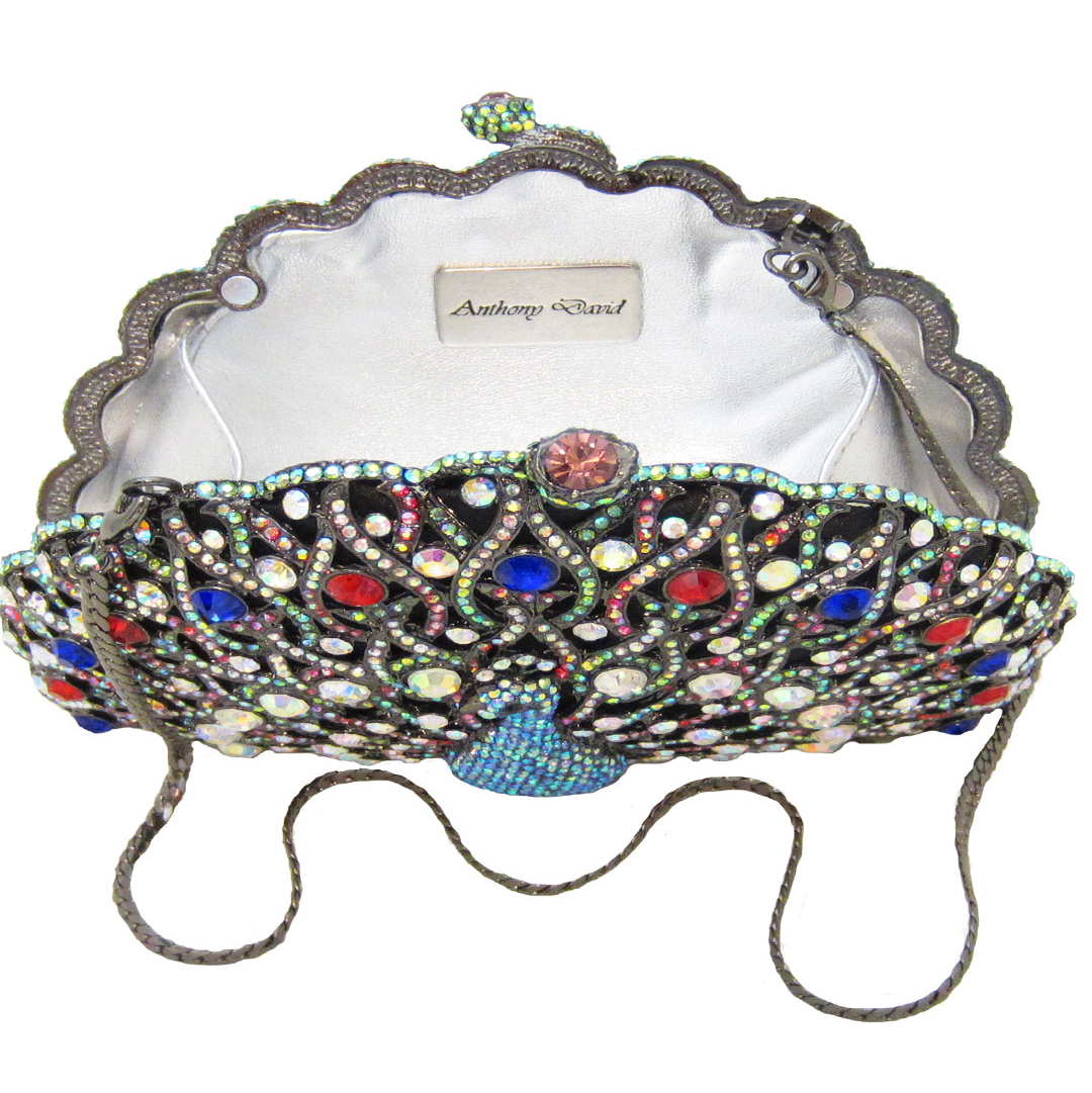 Peacock Crystal Evening Bag