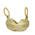 Beaded Hobo Style Evening Bag - Gold