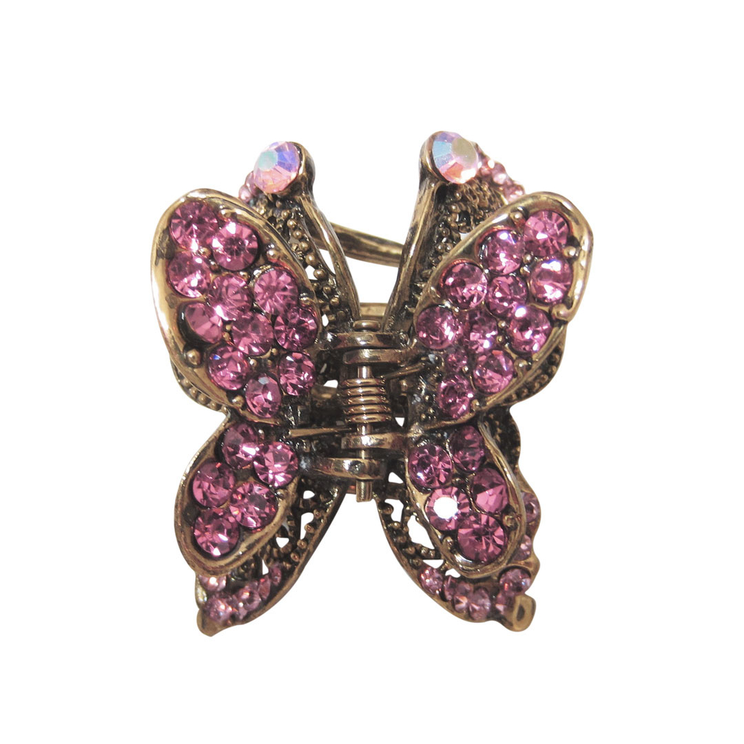 Butterfly Crystal Hair Accessory Claw