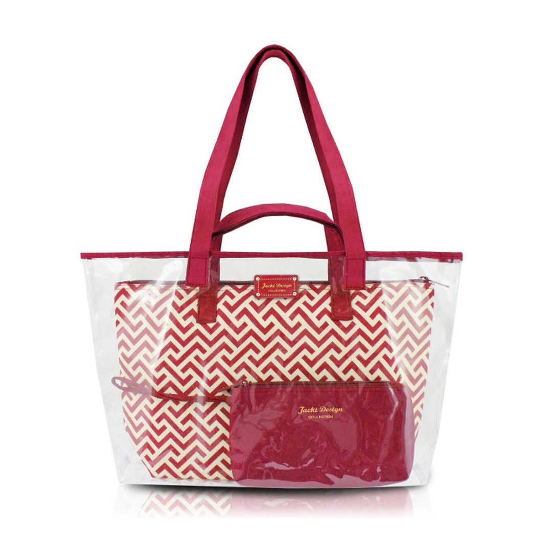 contour clear travel tote bag