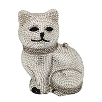 Anthony David Crystal Handbag - Silver Cat