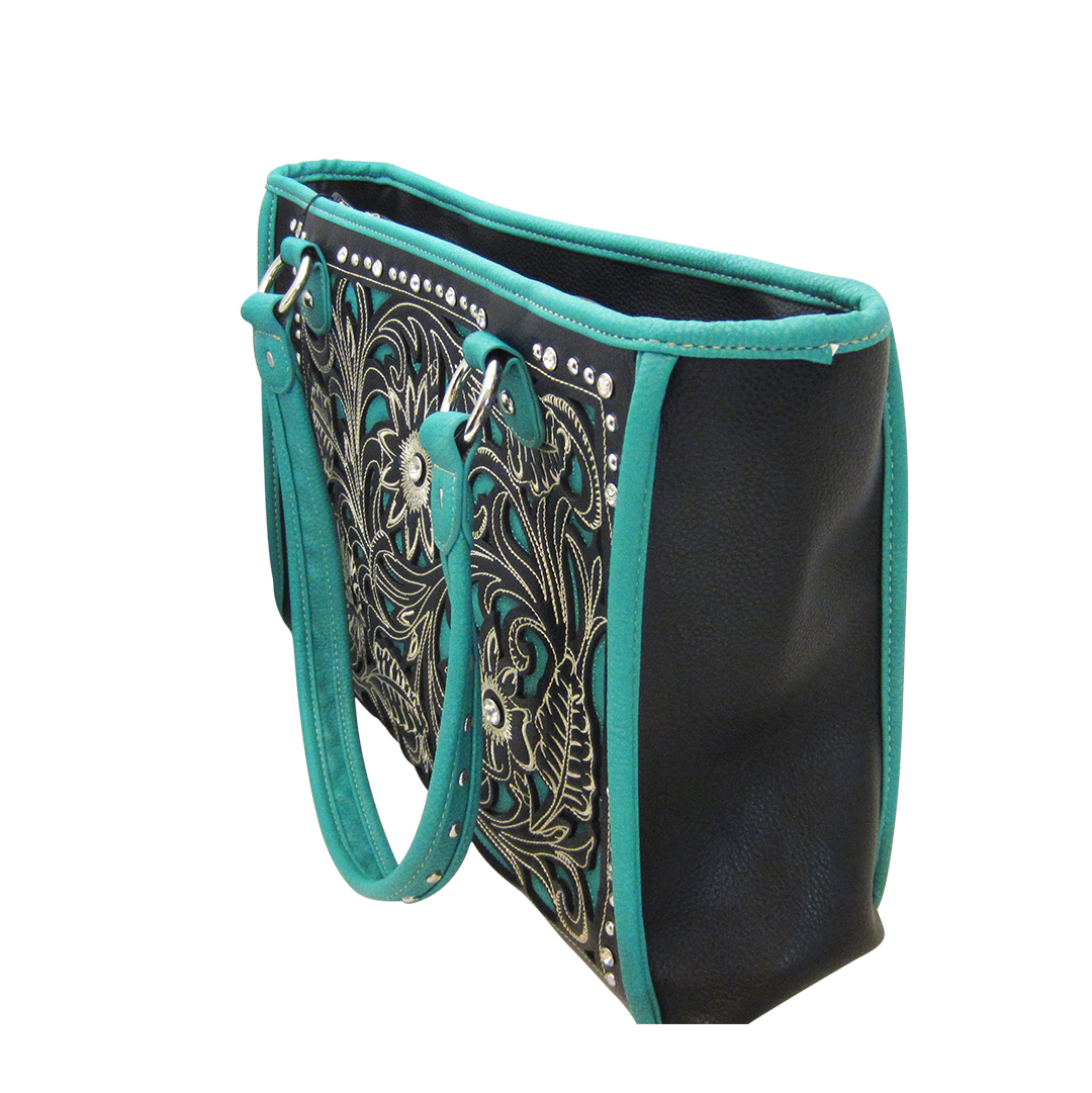 American Bling Black Amp Turquoise Concealed Carry Tote Purse
