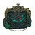 Vintage Style Beaded Handbag - Emerald Green