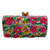 Anthony David Crystal Handbag - Pink Flowers & Butterflies