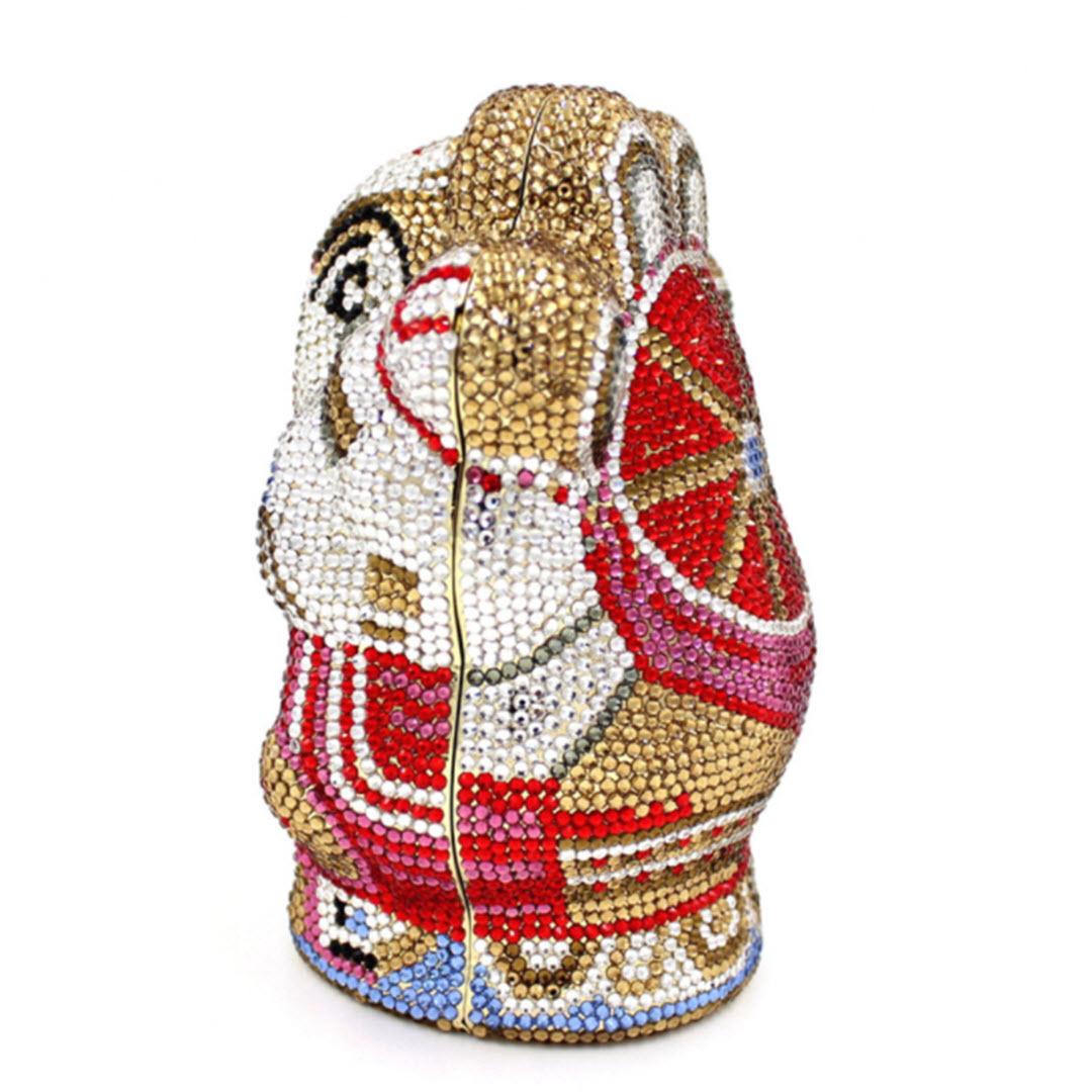 Anthony David Handbag With Swarovski Crystal Ganesh