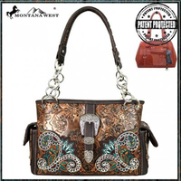 Montana West Brown Chain Shoulder Purse