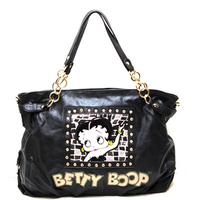 Betty Boop Tote Style Shoulder Purse - Black