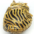 Anthony David Crystal Handbag - Tiger Gold